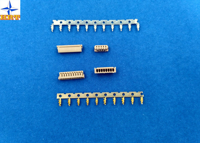 1.25mm Pitch Miniature Crimping Connector UL-listed Grey Color Lvds Display Connector